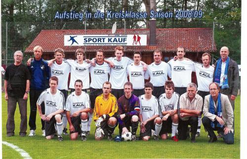 Aufstieg in die Kreisklasse Saison 2008/2009