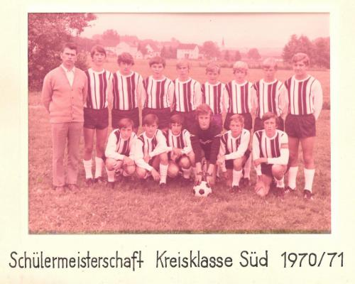 Schülermeisterschaft Kreisklasse Süd 1070/1971